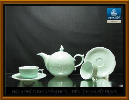 Bộ bình trà 0,7L Sen màu