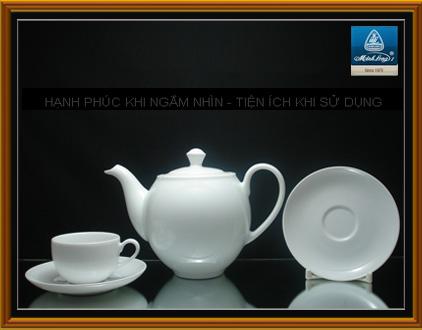 Bộ bình trà 0,5L Camelia trắng