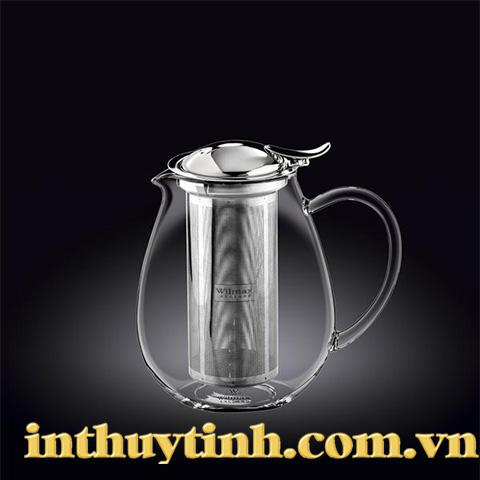 Bình trà cao 0.85L thủy tinh( WILMAX)