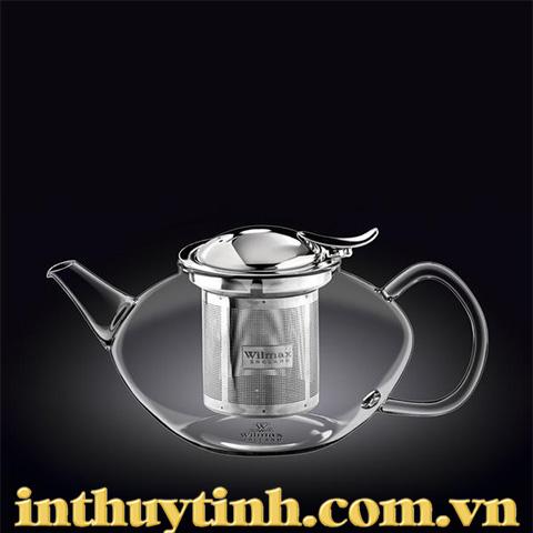 Bình trà thấp 1.1L thủy tinh ( WILMAX)