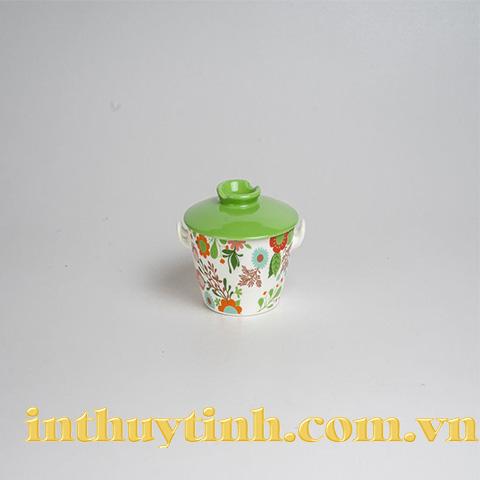Thố mì nhỏ nắp xanh lá (Cường Phát)